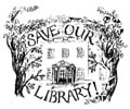 Save Our Library logo